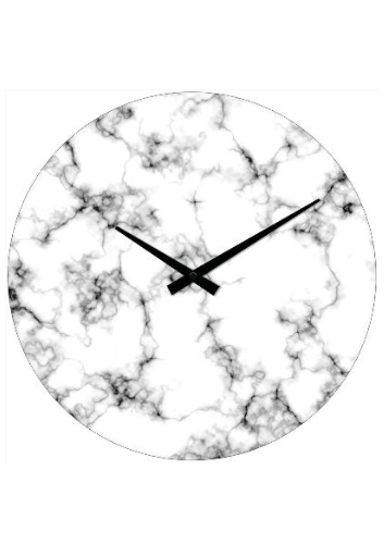 353x500 Marble Clock 30cm