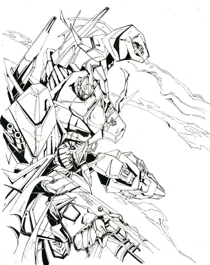 711x900 Bruticus Unite Line Art By Marble V