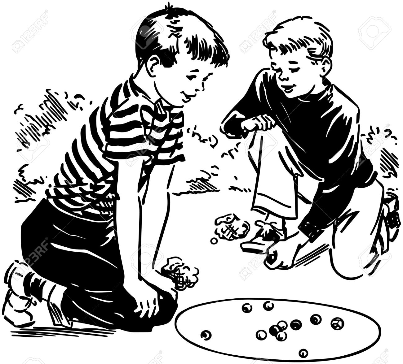 1300x1176 Kids Playing Marbles Clipart