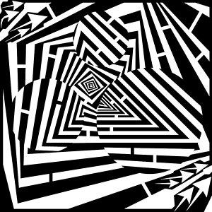 300x300 Marbles Spiraling Pyramid Maze Drawing By Yonatan Frimer Maze Artist