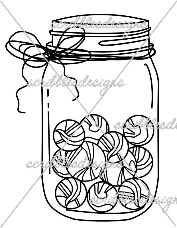 621x800 Marble Jar Clipart