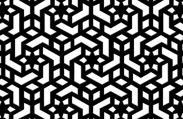 589x385 Black Marble Pierced Screen Jali