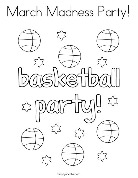 468x605 March Madness Party Coloring Page