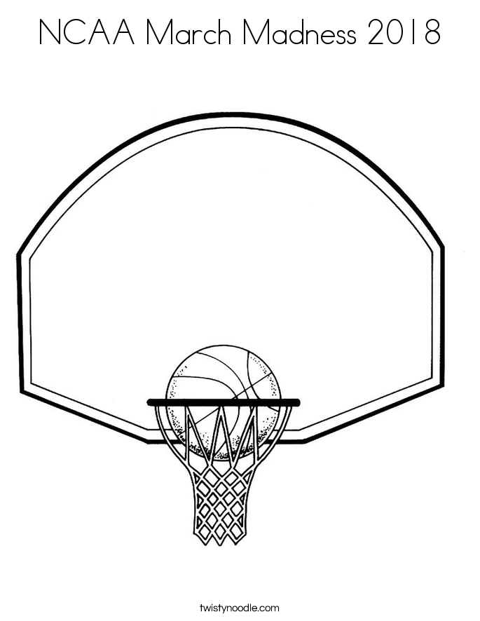 685x886 Ncaa March Madness 2018 Coloring Page
