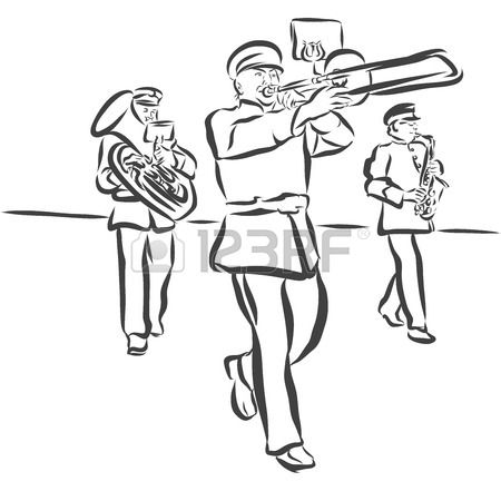 Marching Band Drawing