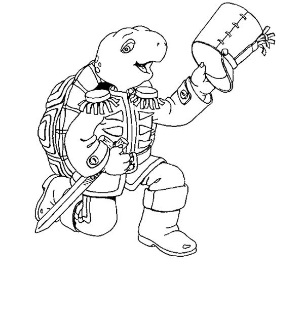 600x628 Franklin The Turtle Lead Marching Band Coloring Pages Batch