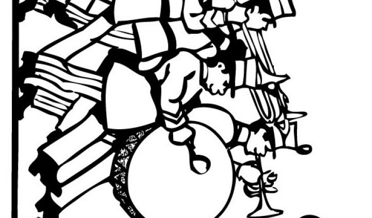 724x425 Marching Band Coloring Drawing In Marching Band Coloring Pages