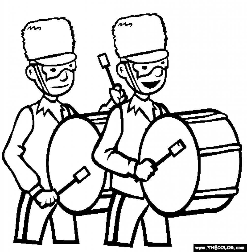 1004x1024 Marching Band Coloring Pages