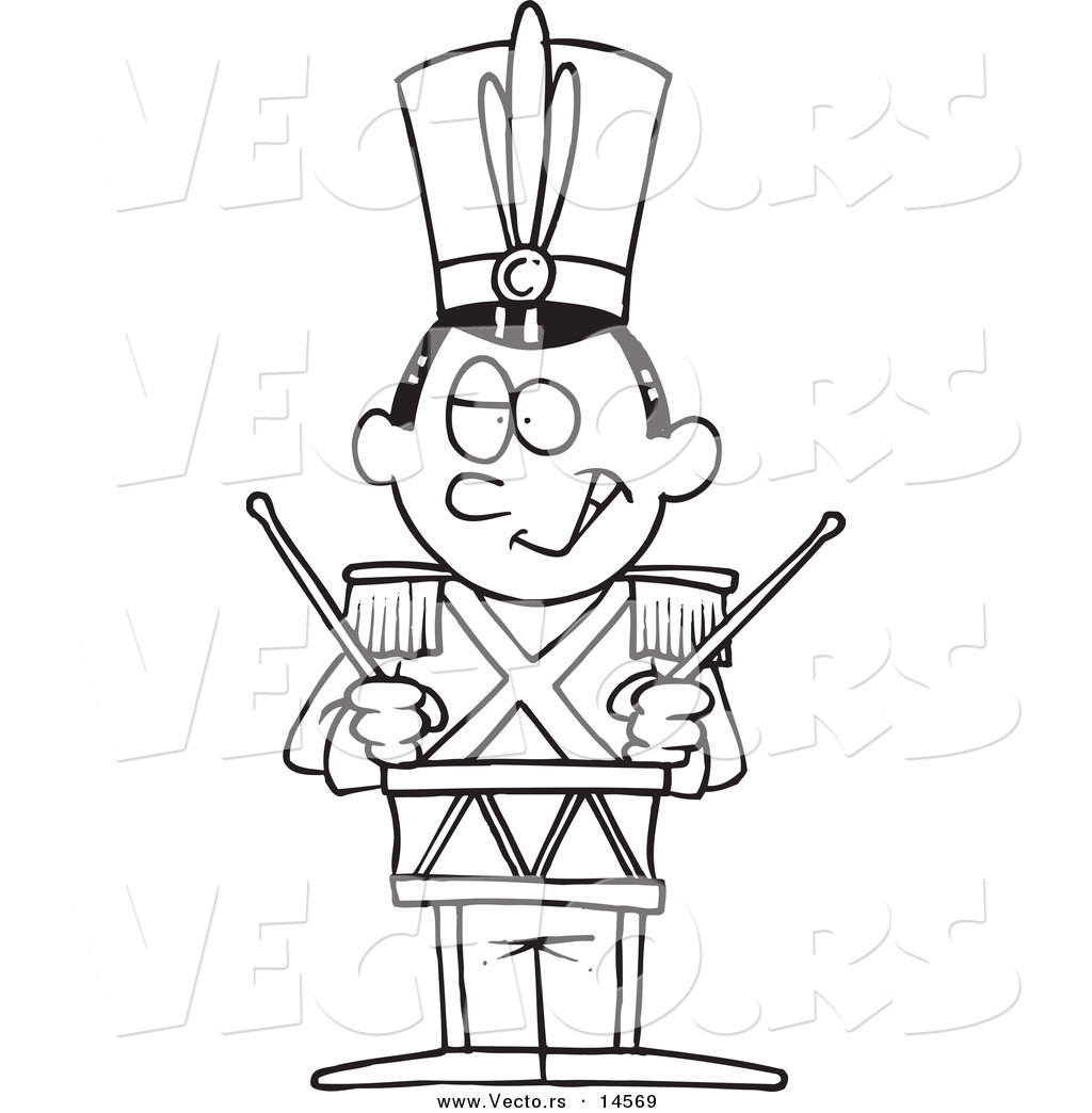 1024x1044 Vector Of A Cartoon Tin Soldier Drumming