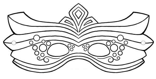 600x307 How To Draw Mardi Gras Mask Coloring Page How To Draw Mardi Gras