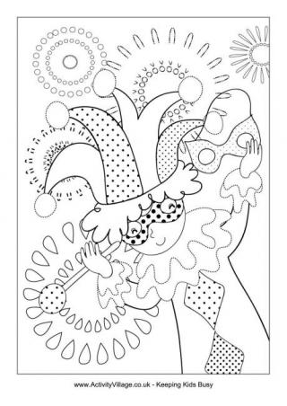320x452 Mardi Gras Coloring Pages Colouring To Sweet Draw Pict Kids