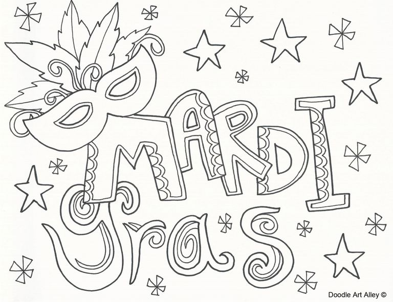 768x591 Mardi Gras Coloring Pages Free Printable