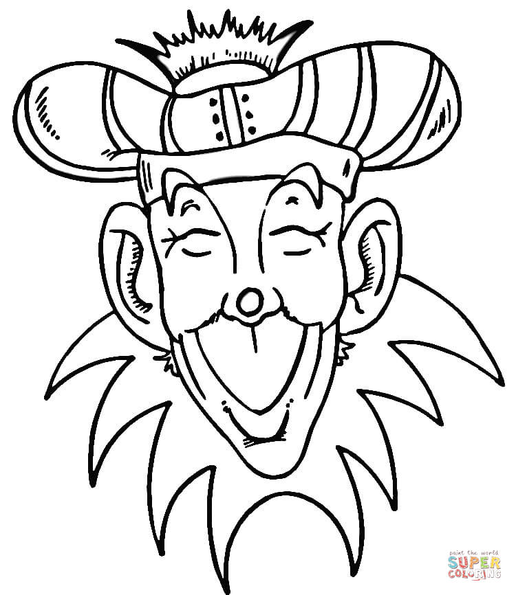 750x866 Mardi Gras Coloring Pages Free Printable Pictures