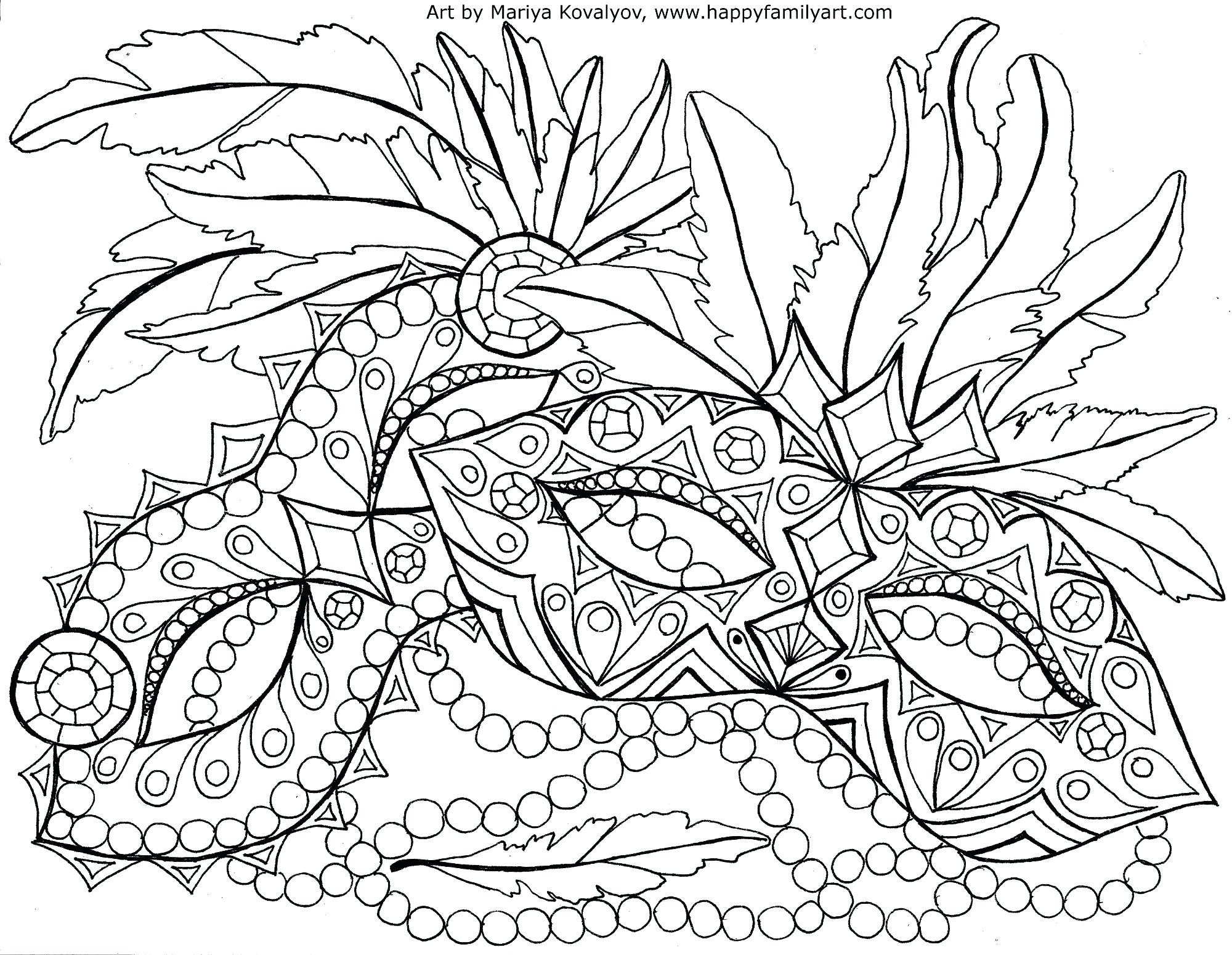 2000x1550 Mardi Gras Coloring Pages For Adults Free Draw To Color