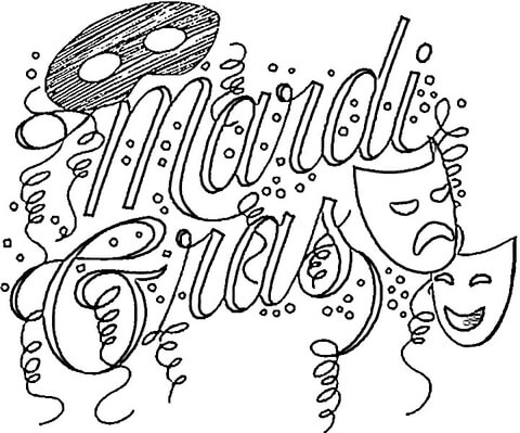 480x399 Festival Of Mardi Gras Coloring Page Free Printable Coloring Pages