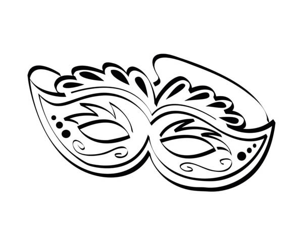 Mardi Gras Mask Drawing At Getdrawingscom Free For Saveenlarge Printable Coloring Pages