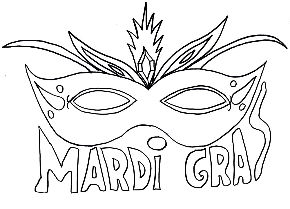 carnival mask coloring page - mardi gras mask drawing at free for