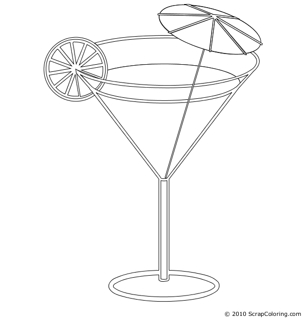 600x630 Cocktail Coloring Page