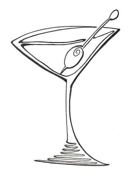 Margarita Glass Drawing