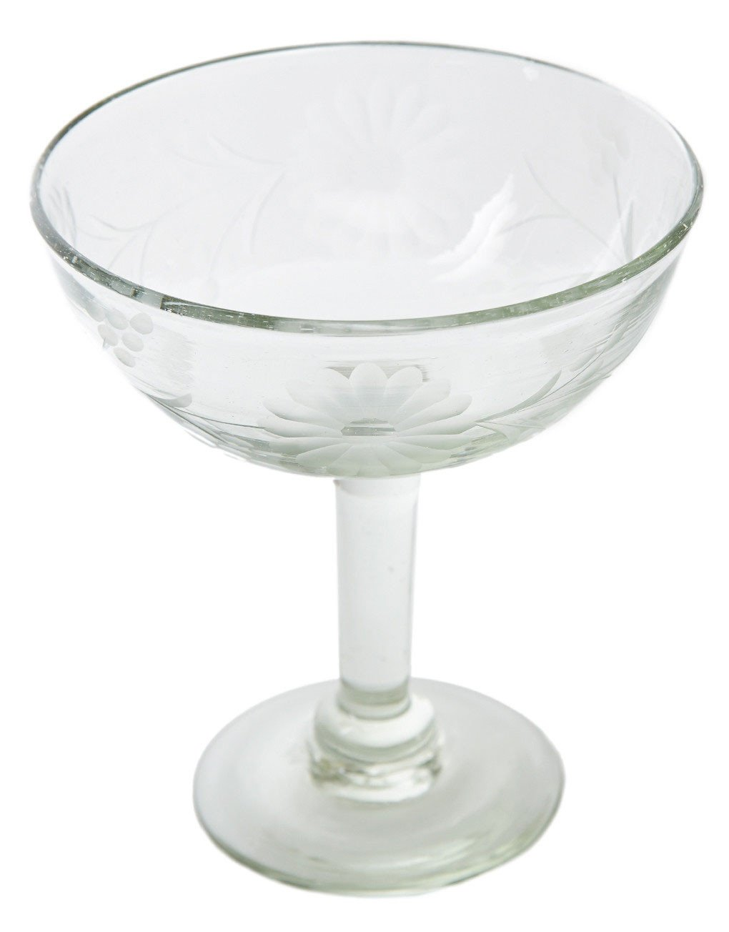 1020x1304 Hand Etched Recycled Margarita Glass, Fair Trade Clear