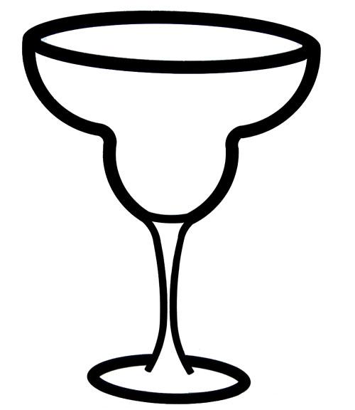 500x576 Margarita Glass Template Identity And Brand Development Print