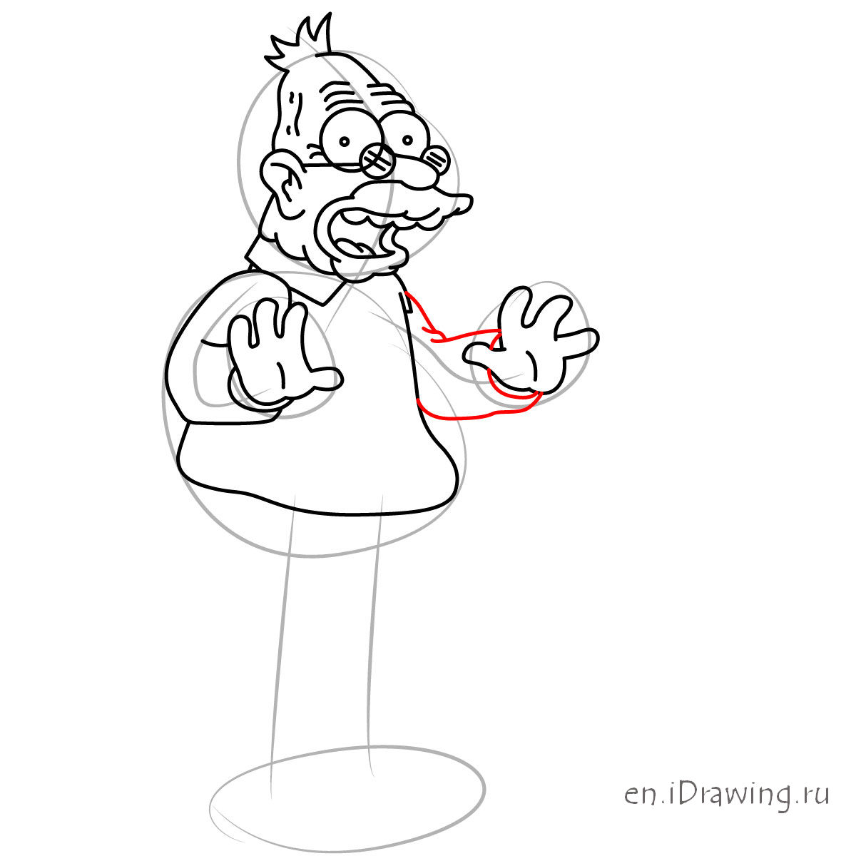 1200x1200 How To Draw Grandpa Abraham Abe Simpson