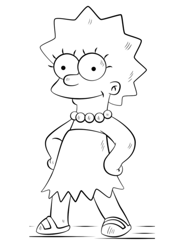 360x480 Lisa Simpson Coloring Page Free Printable Coloring Pages