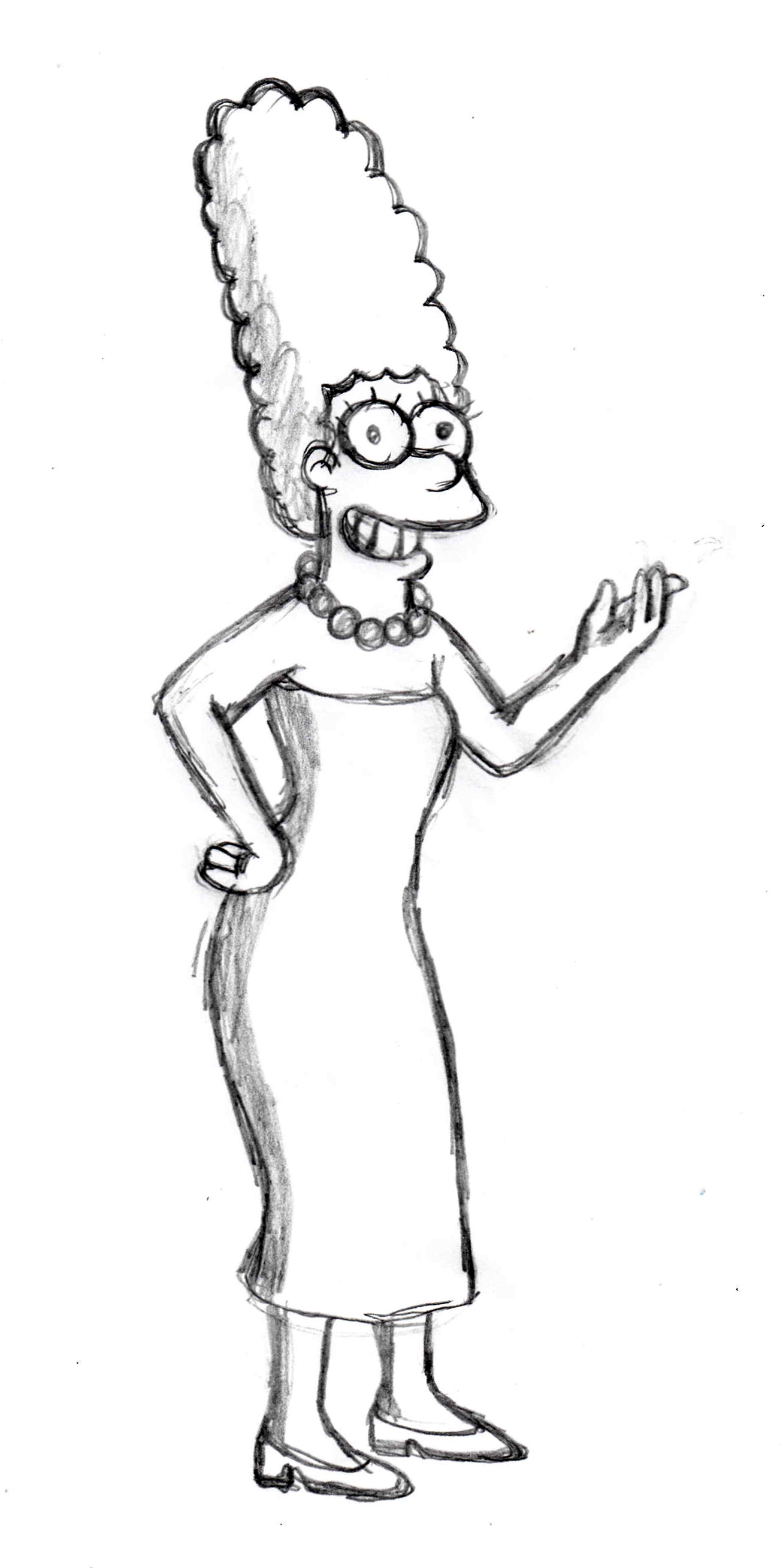 1307x2616 Marge, The Simpsons Sketch Httpit.ly1covfxk Cartoons