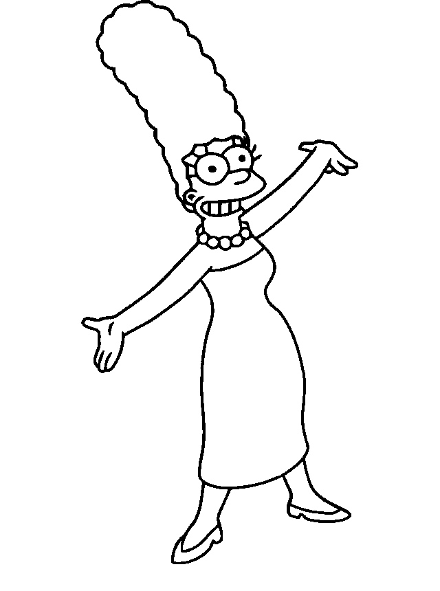 640x860 Marge Simpson Laughter Potential Pattern Clip Art