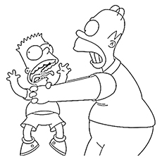 230x230 Top 10 Free Printable Simpsons Coloring Pages Online