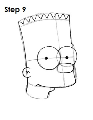 300x388 How To Draw Bart Simpson