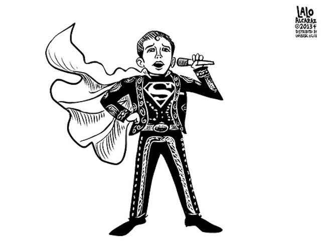 640x499 It's A Bird, It's A Plane, It's Super Mariachi Boy! (Toon) Pocho