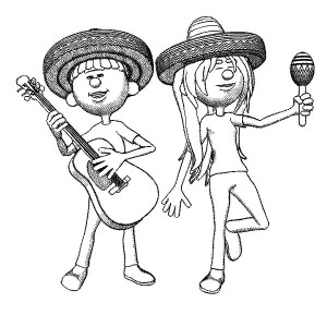 300x300 Mariachi Band In Cinco De Mayo Coloring Pages Best Place To Color