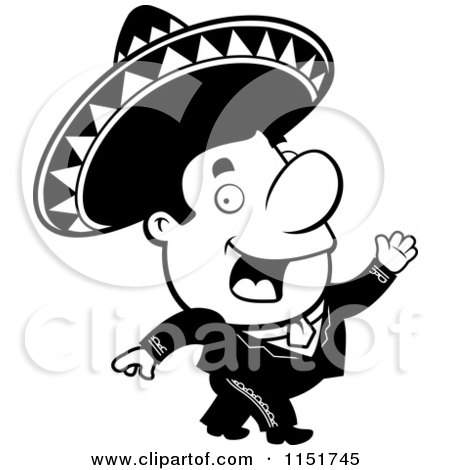 450x470 Royalty Free (Rf) Clipart Illustration Of A Mariachi Man Walking