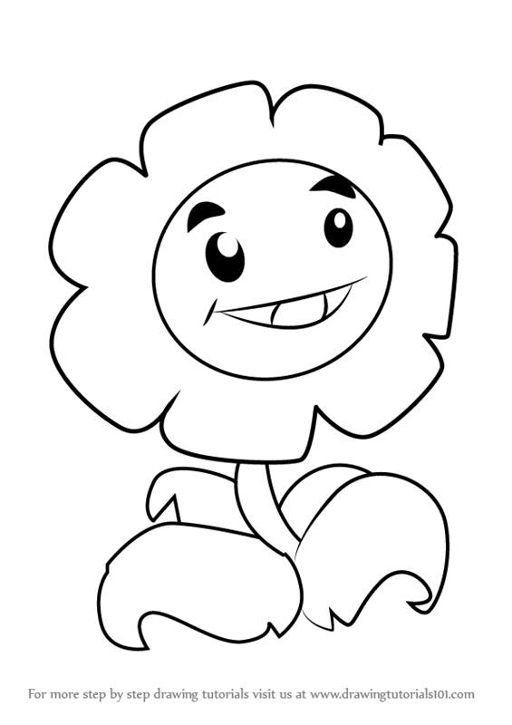 565x800 Learn How To Draw Marigold From Plants Vs. Zombies (Plants Vs