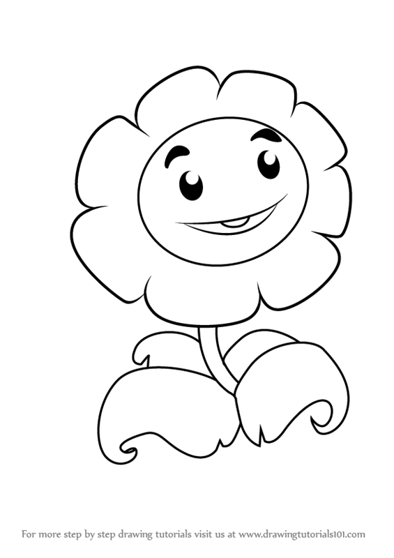 565x800 Step By Step How To Draw Giant Marigold From Plants Vs. Zombies