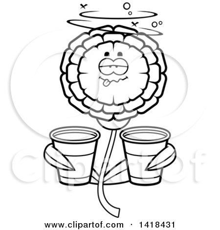 450x470 Clipart Talking Marigold Flower Character
