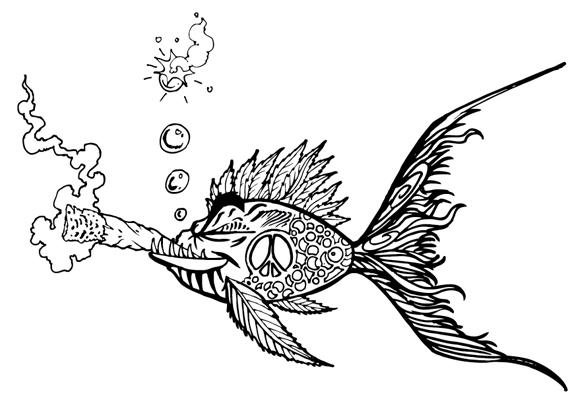 575x417 Bud Fish (Weed Shirt)