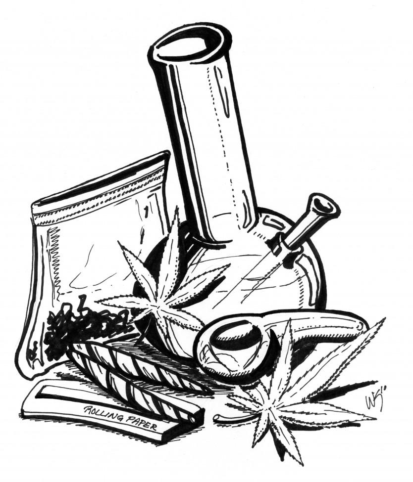Marijuana Bud Drawing At GetDrawings.com