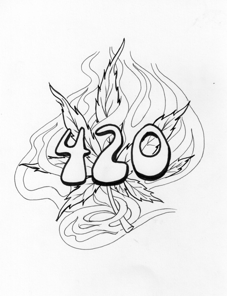783x1020 Weed Tattoo Tattoo Outline Lean Body Weed Leaves Coloring Sheets