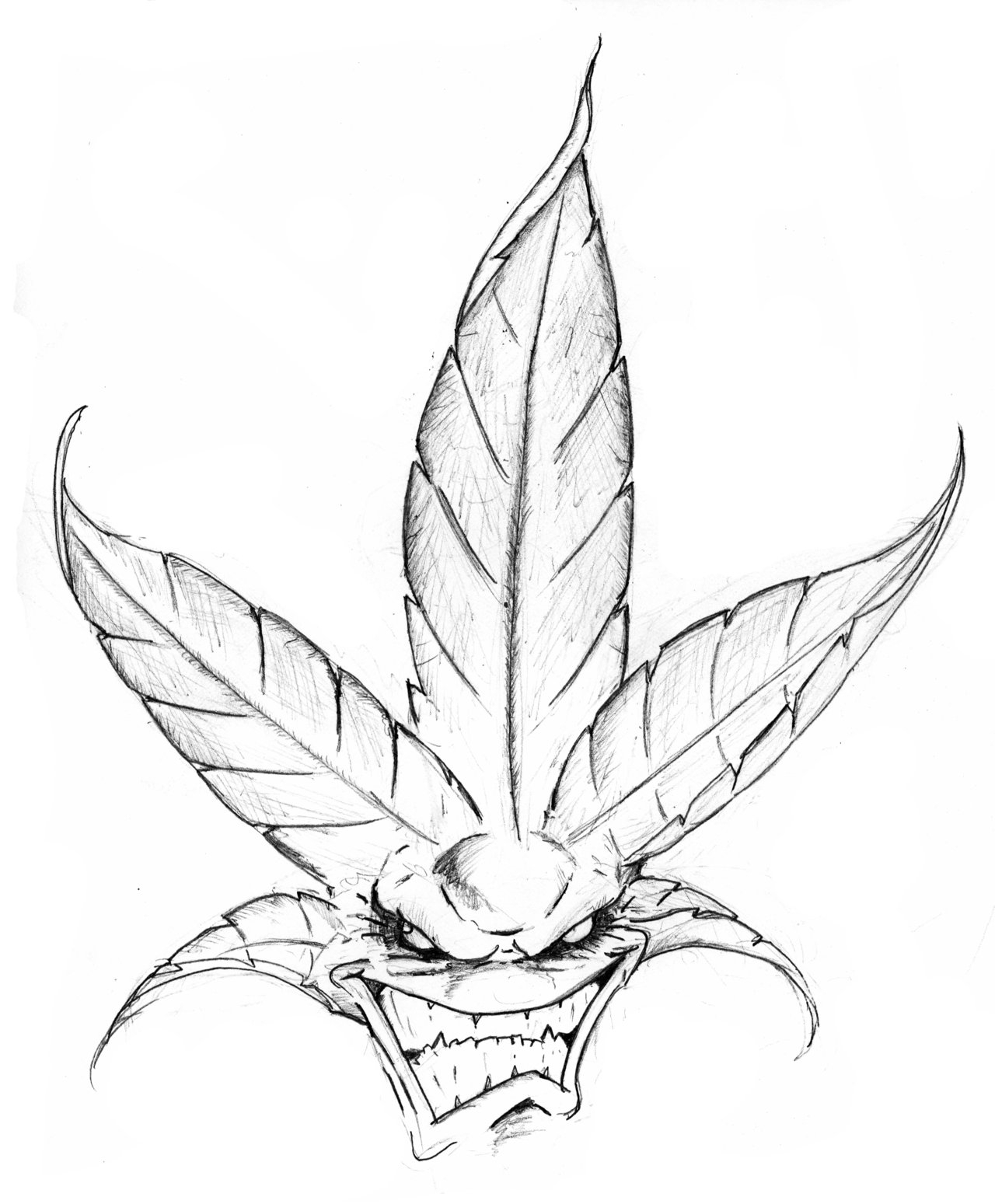 1280x1549 Cool Weed Drawing
