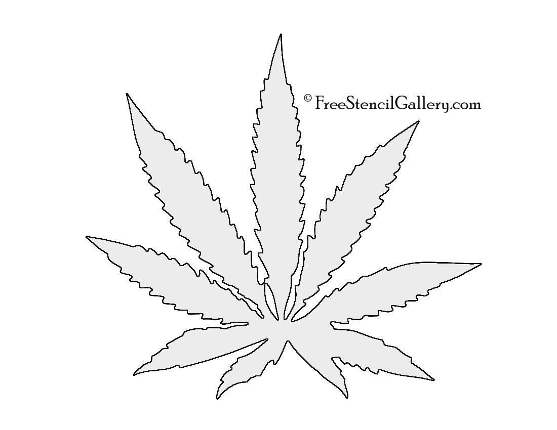 1100x850 Cannabis Pot Leaf Stencil Free Stencil Gallery