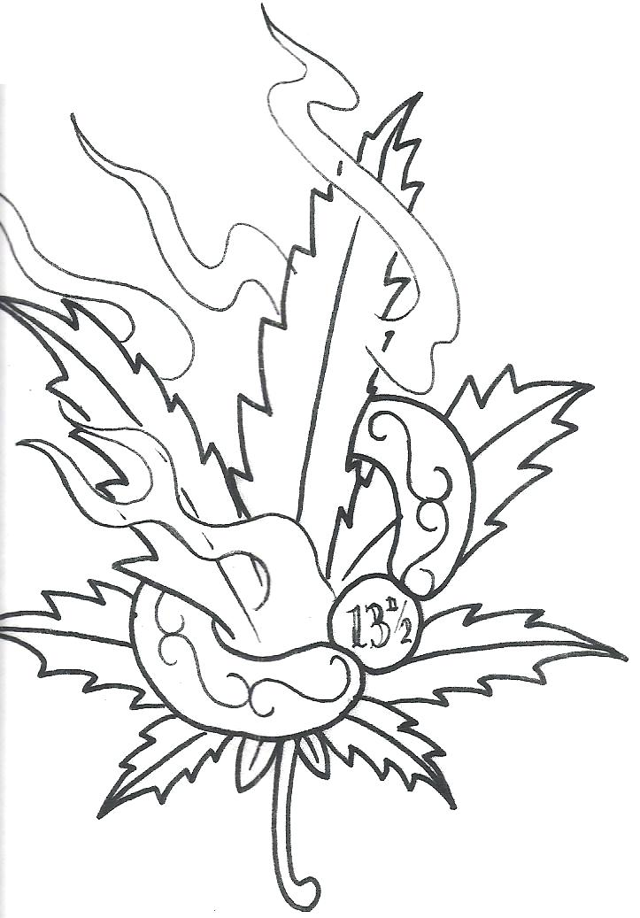 Marijuana Leaf Drawing At Getdrawings Com Free For Personal Use