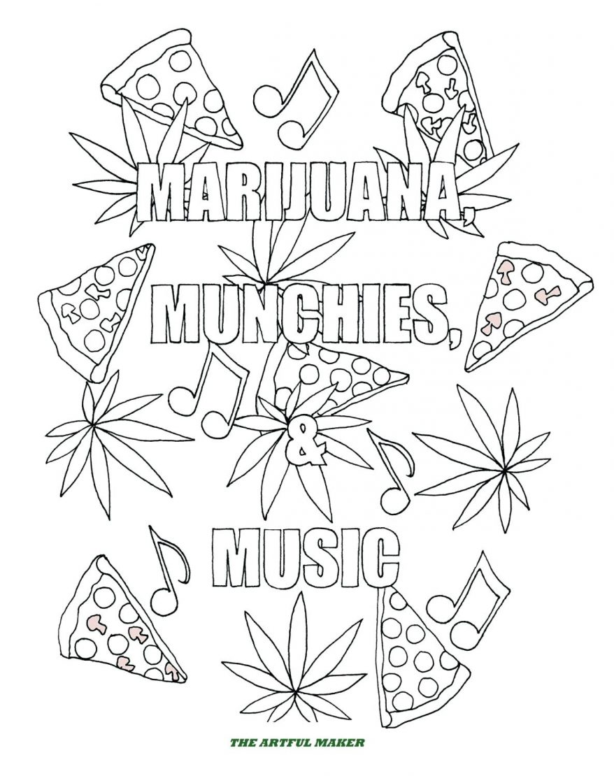 878x1110 Zoom 10 Mesmerizing Pot Leaf Coloring Pages Weed Trippy Pot Leaf