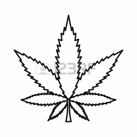 450x450 Marijuana Leaf Outline Stock Photos. Royalty Free Business Images