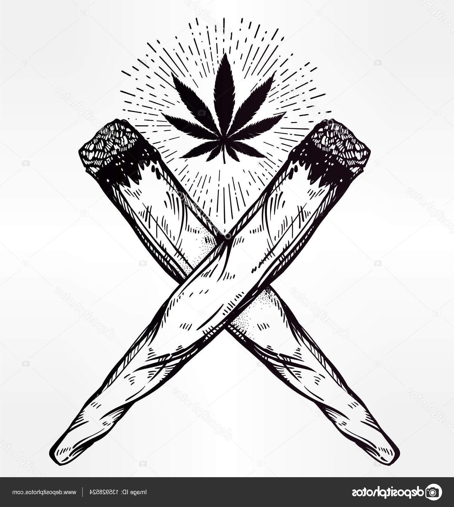 1524x1700 Best Hd Drawn Cannabis Spliff Images