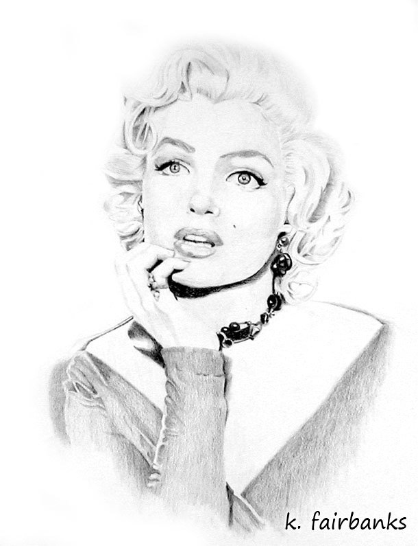 Marilyn Monroe Black And White Drawing
