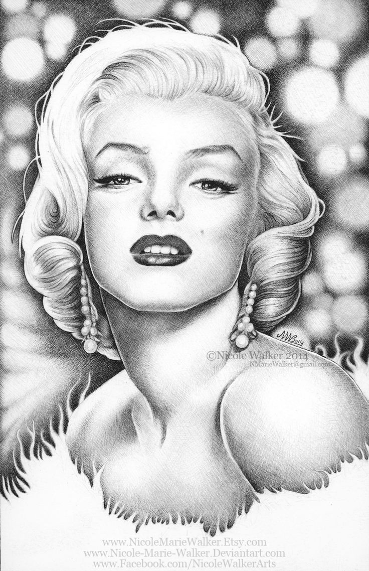 It's just an image of Epic Marilyn Monroe Drawing Outline