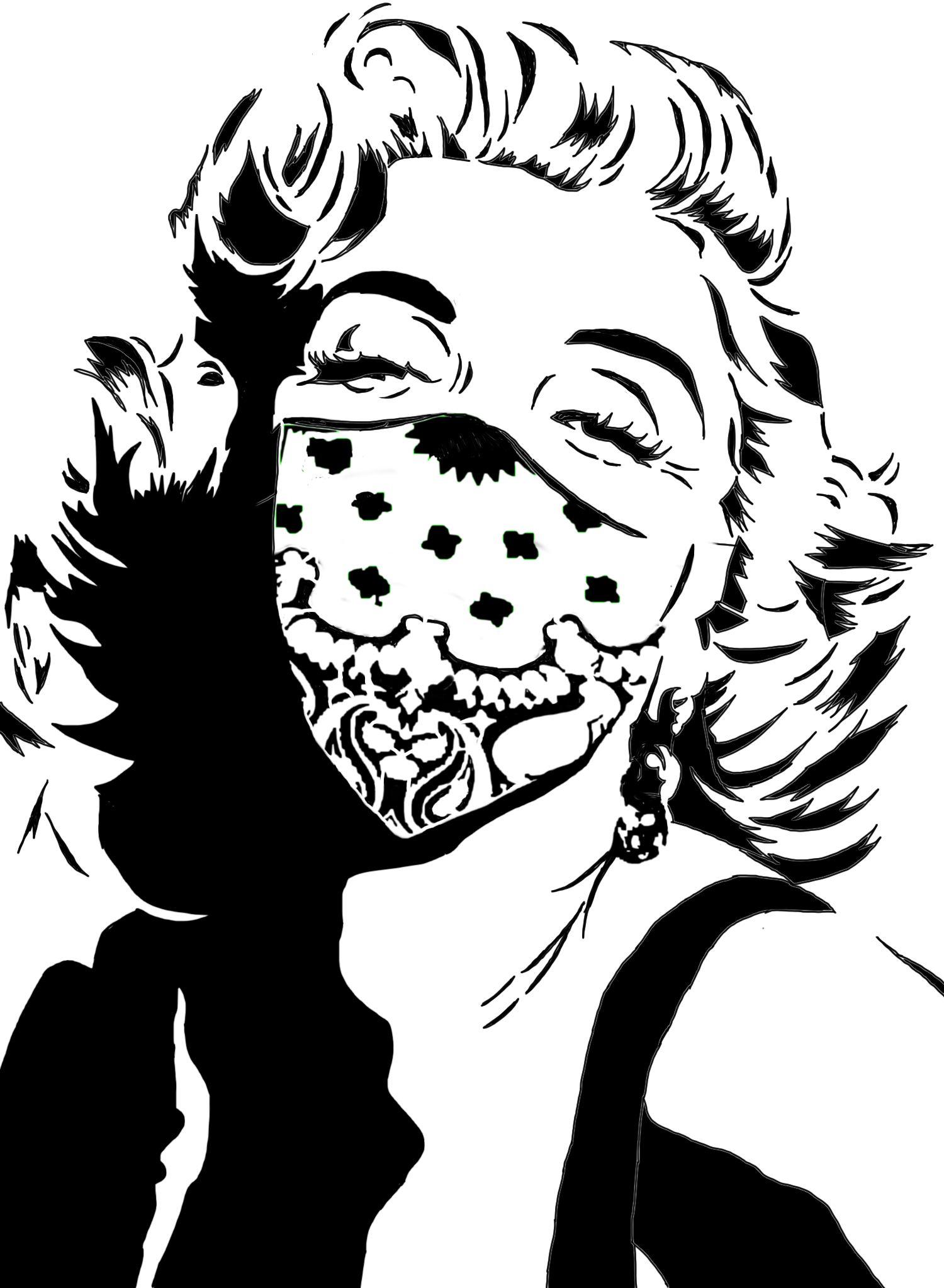 Marilyn Monroe Black And White Drawing at GetDrawings ...