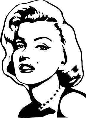 291x400 Famous Faces Marilyn Monroe Wall Decals Famous Faces, Face